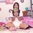 OMG How adorable is little Nikki??? Nikki is so cute with her pigtails and thigh high socks and wearing a cute Pampers tee. She plays with baby toys in the […]